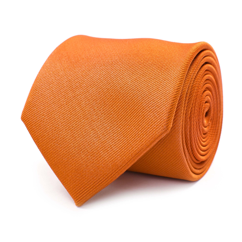 Tie classic ribbed orange