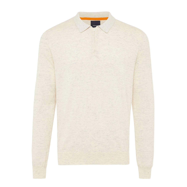 EMILIO | Basic melange pullover ivory