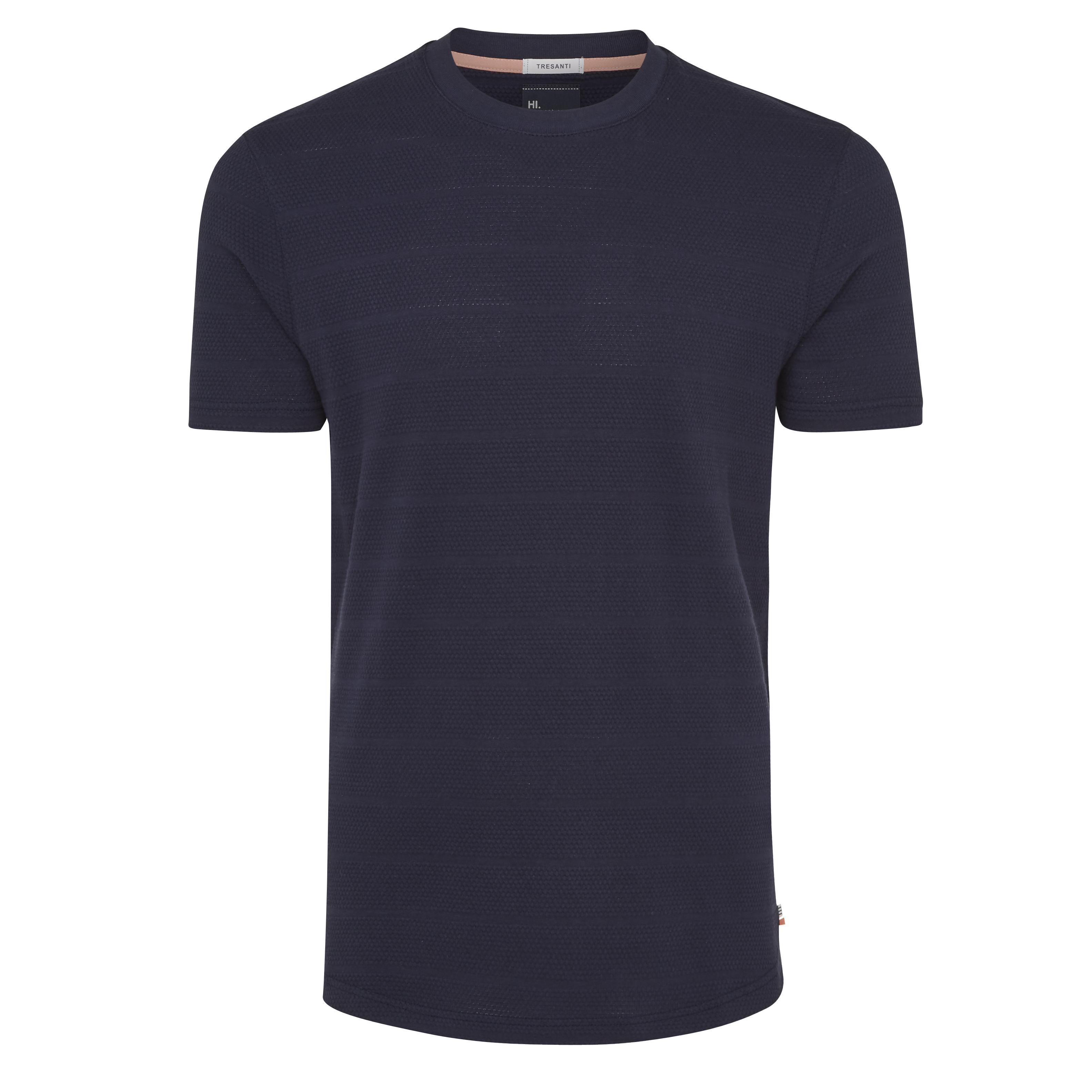 Tony | T-shirt structure navy