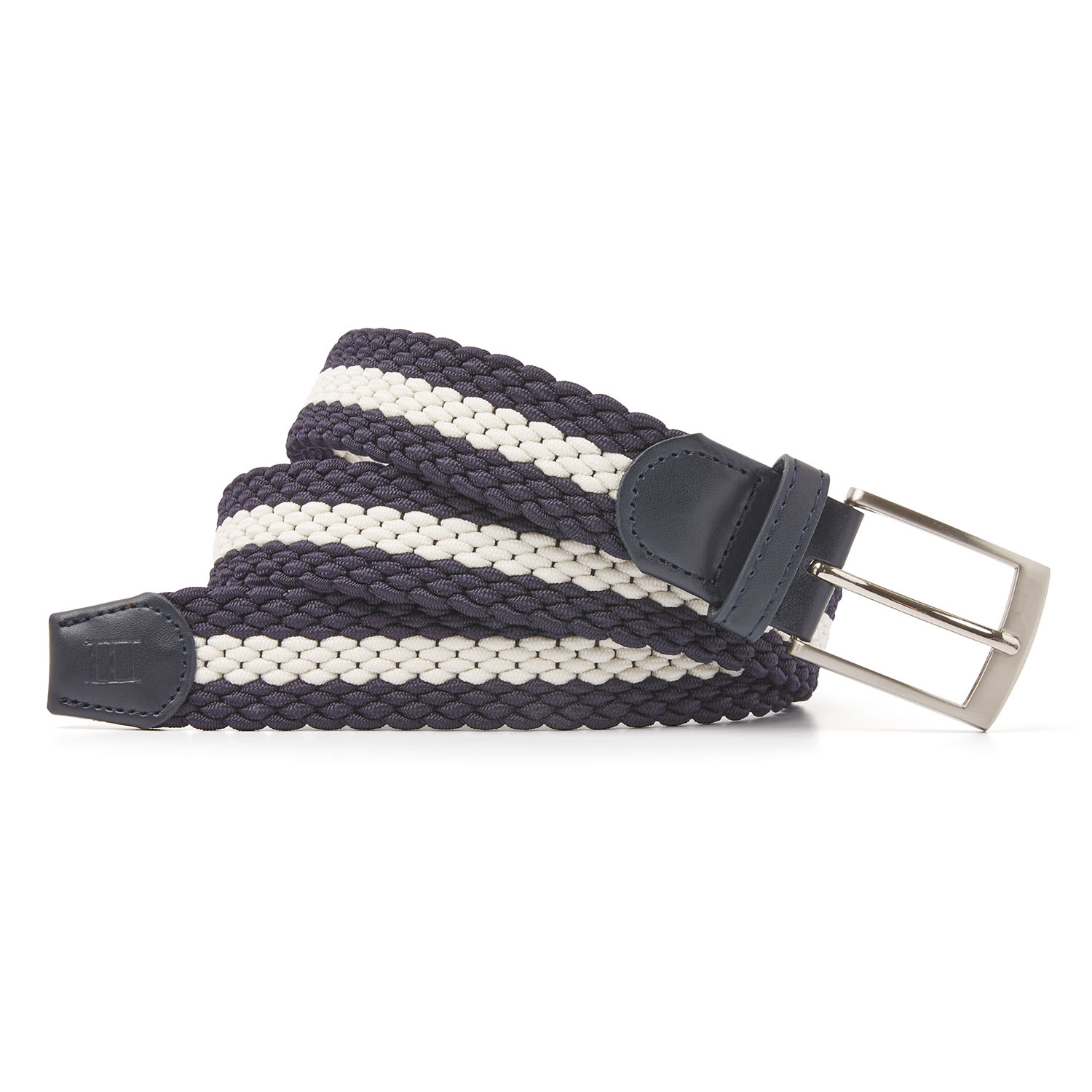Mees | Braided belt navy/beige