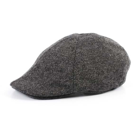 Flat cap, grey melange