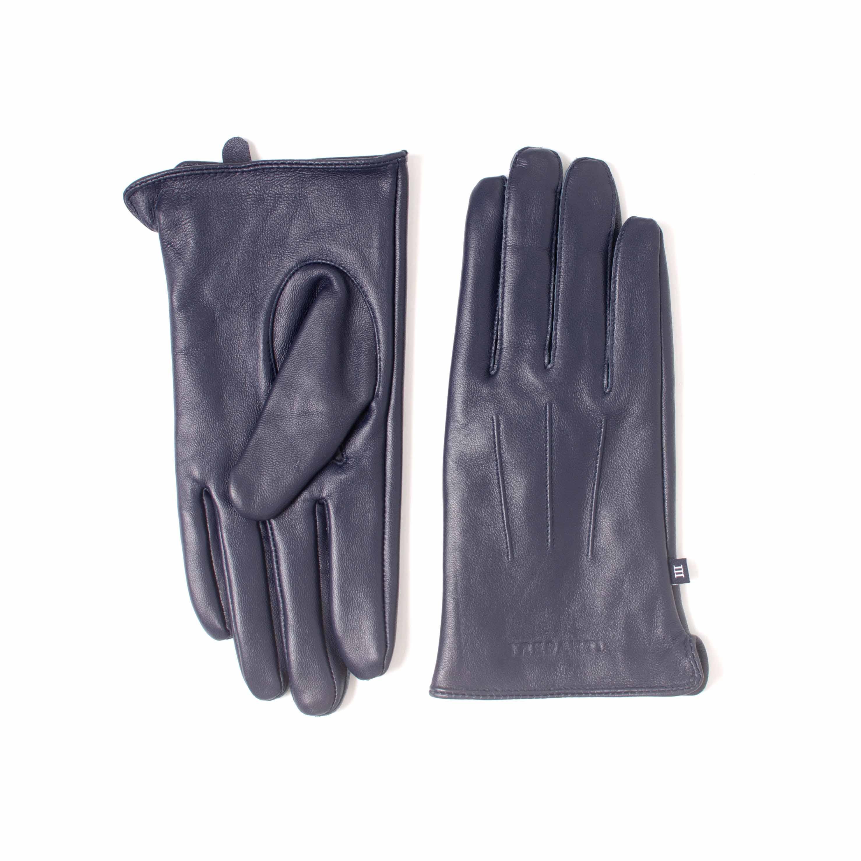 ERIAN | Plain navy  leather gloves