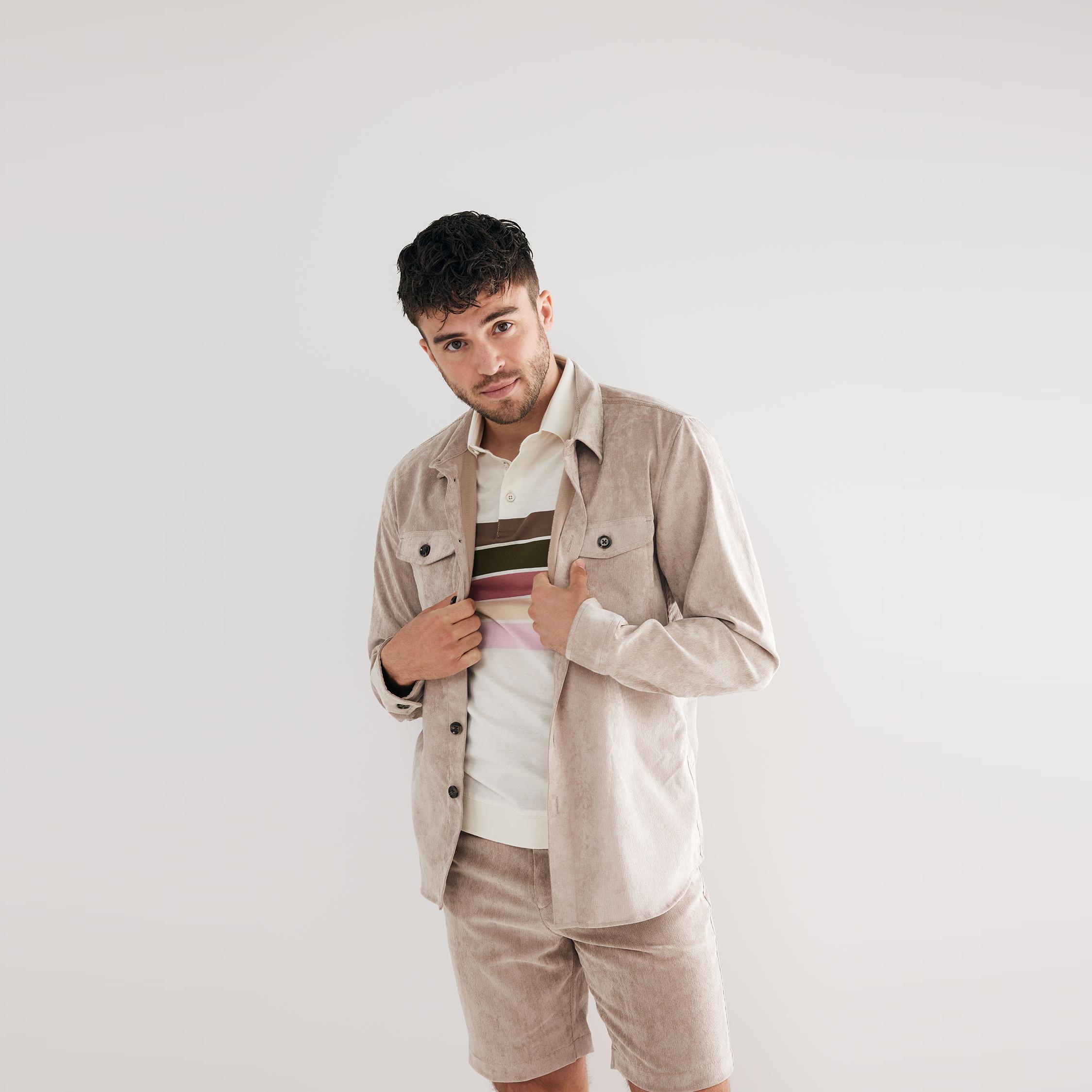 Matt | Rib overshirt beige