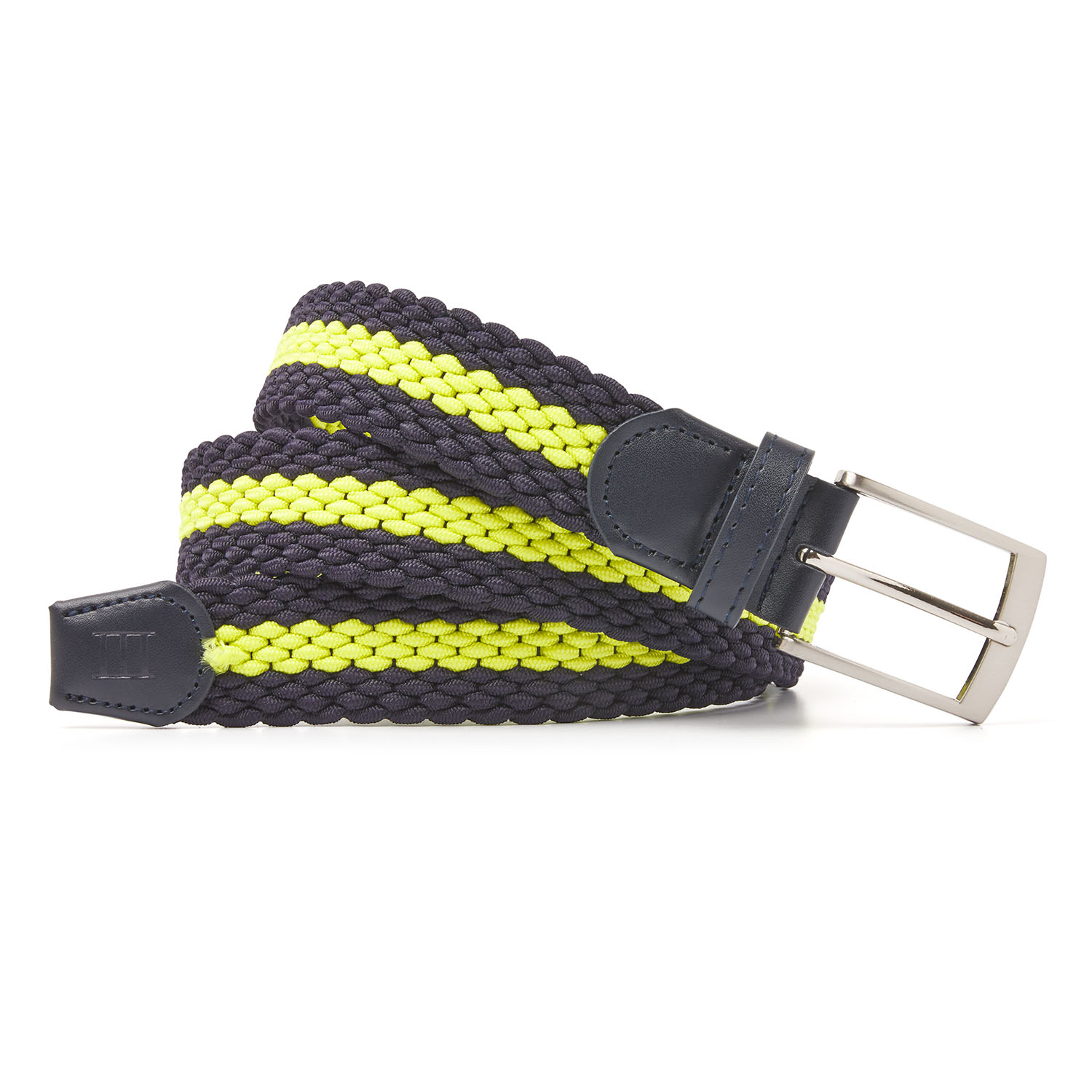 Mees | Braided belt navy/bright yellow