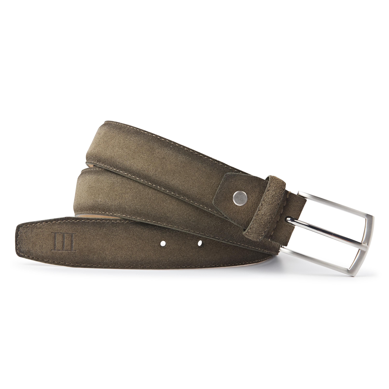 Belt suede army green