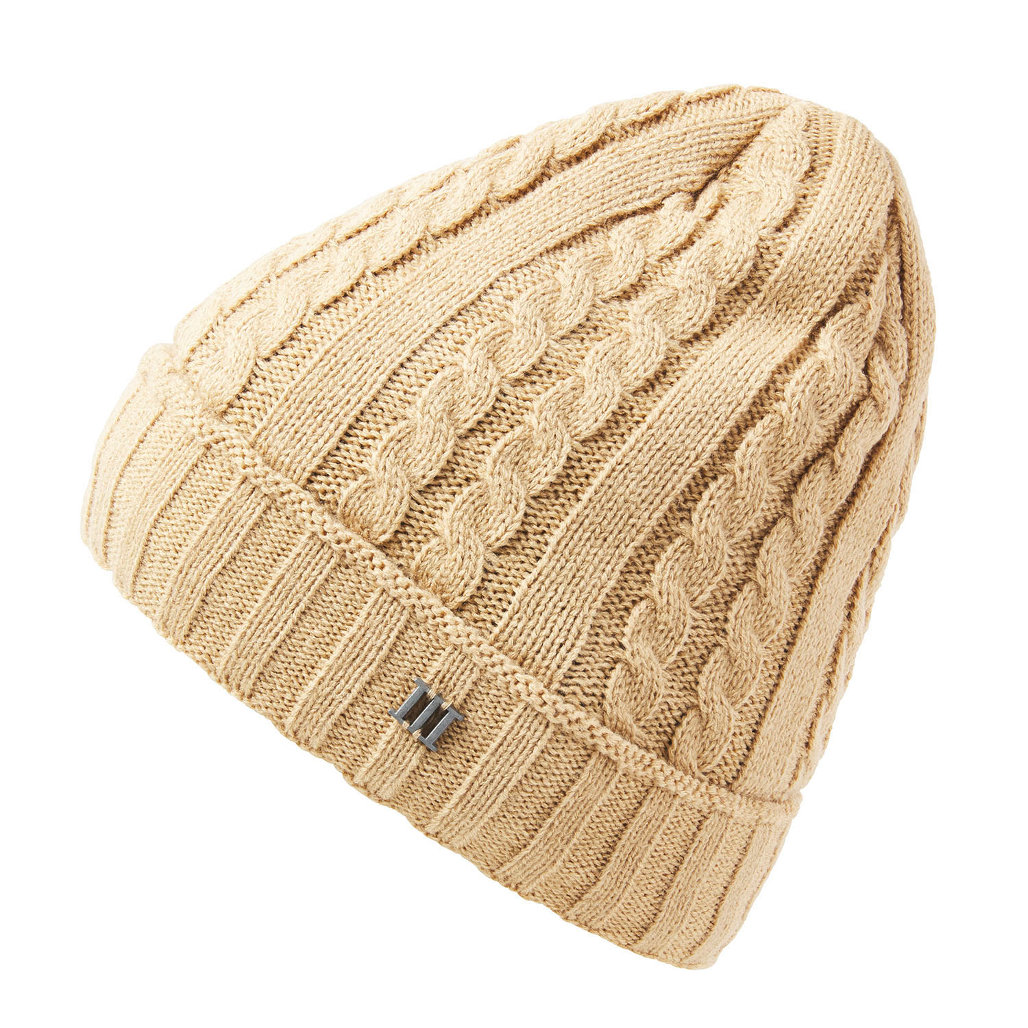 ERRIC | Cable knitted beanie in beige