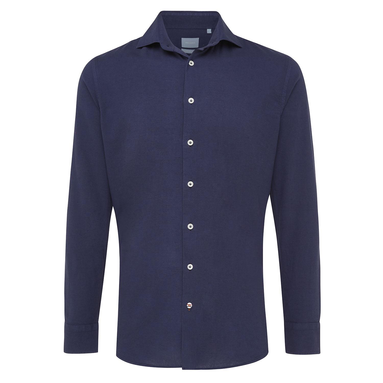 Maxim | Shirt linen navy