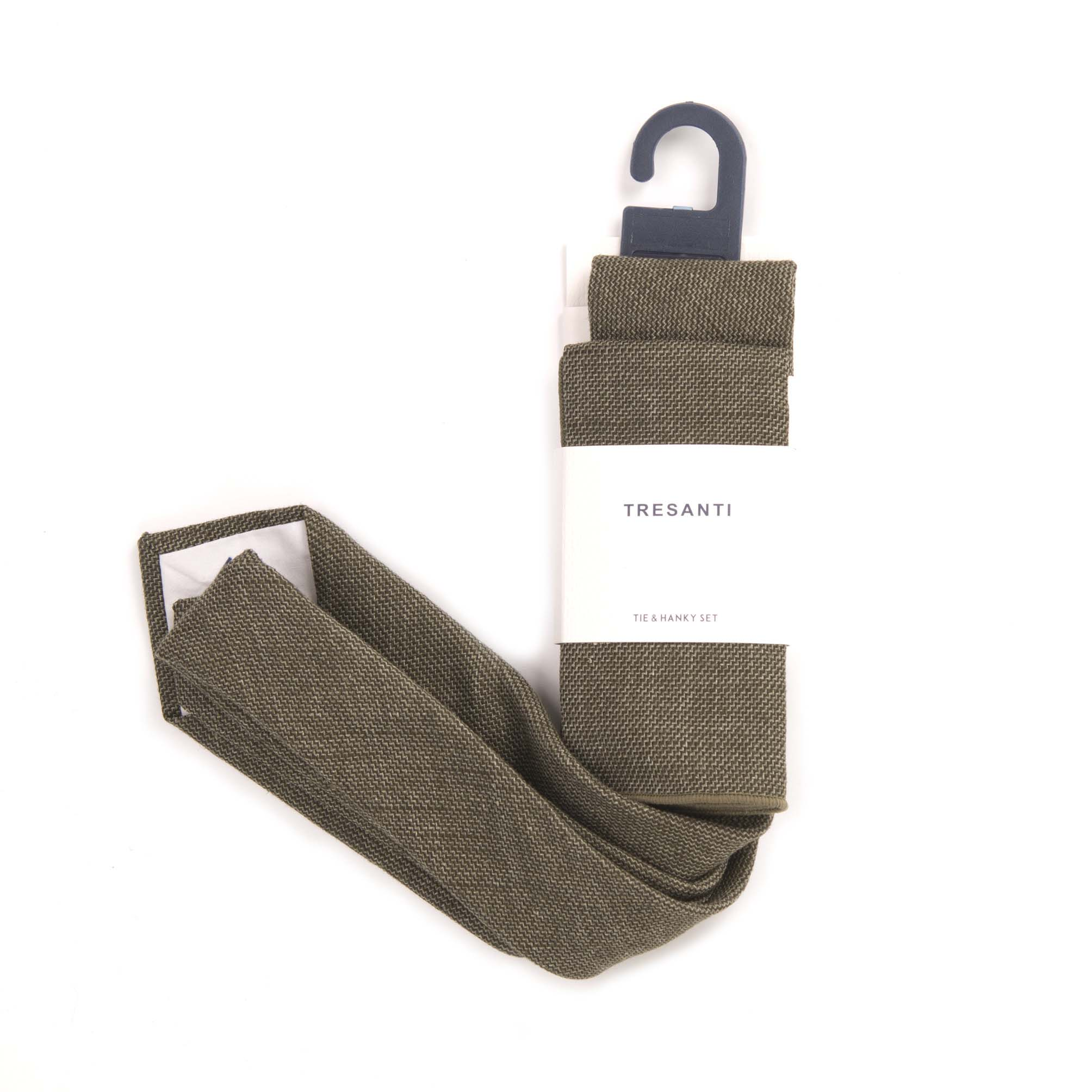 Tie & hanky army green