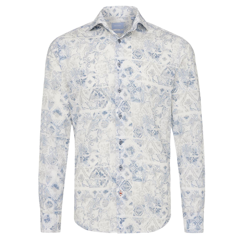 Miller | Shirt blue fantasy print