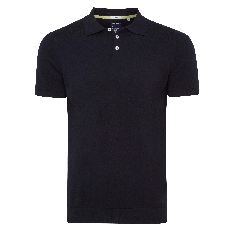 Trevor | Polo pullover navy