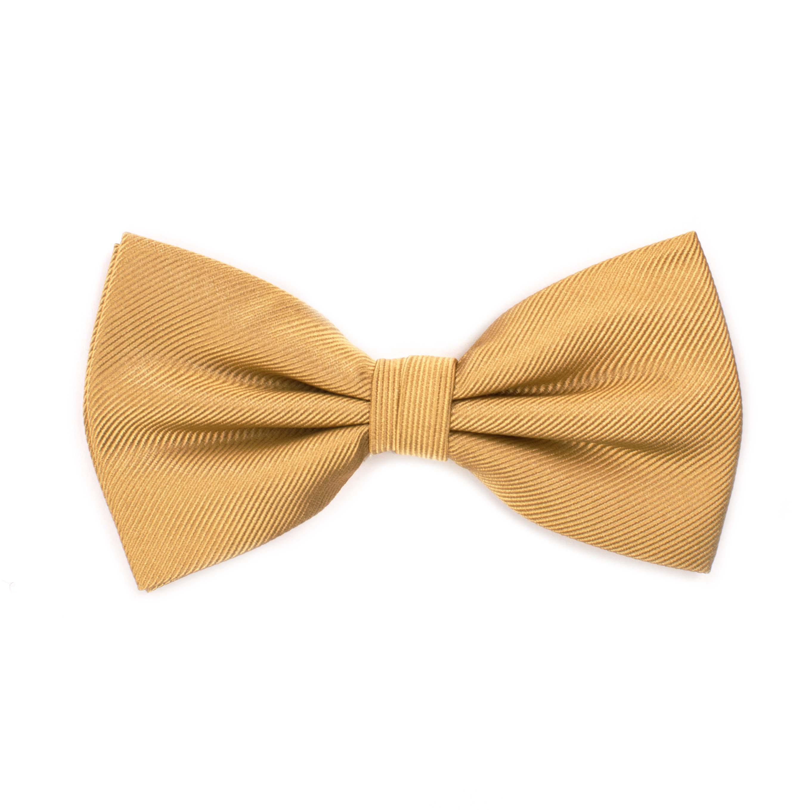 Bow tie classic ribbed camel