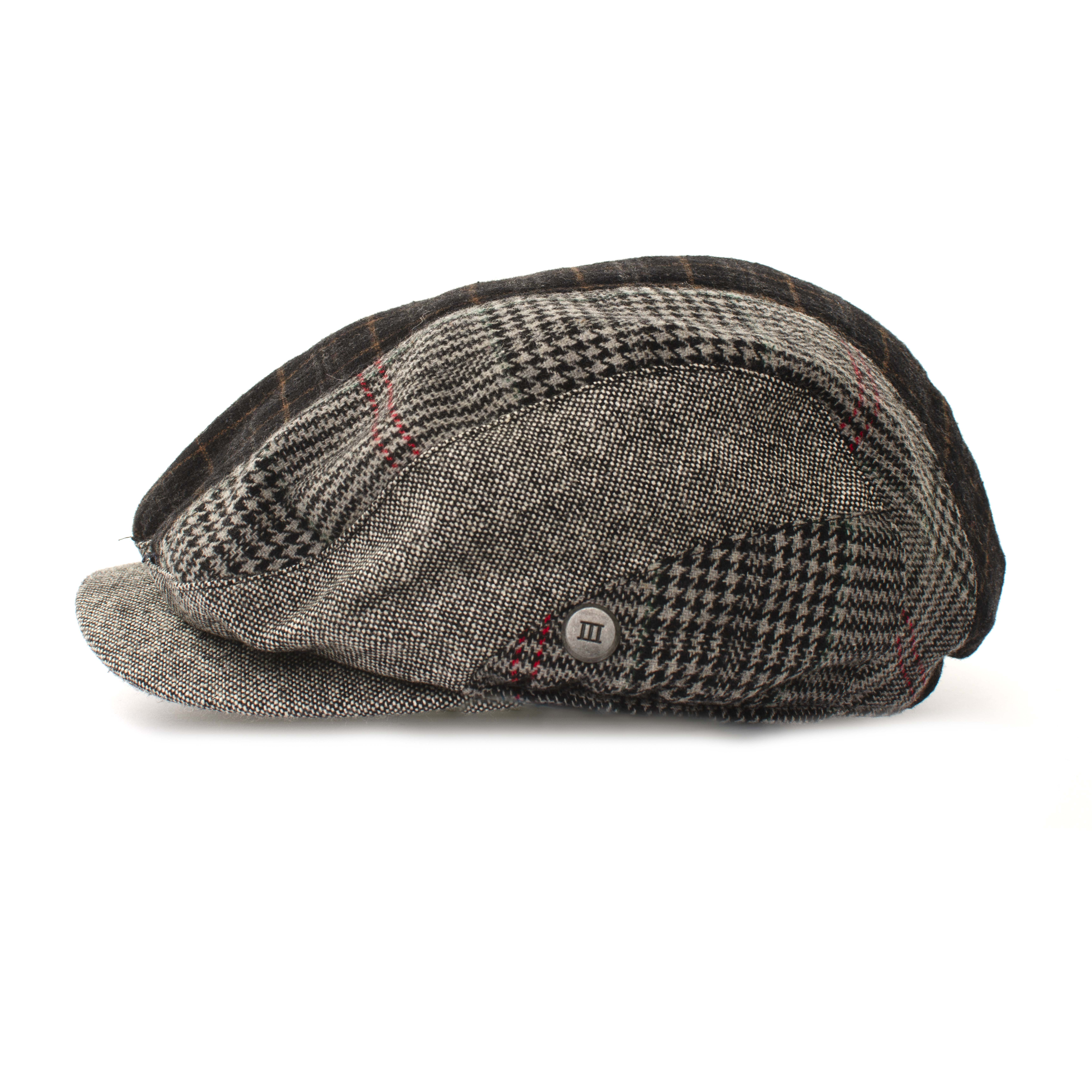 Flatcap with mixed designs