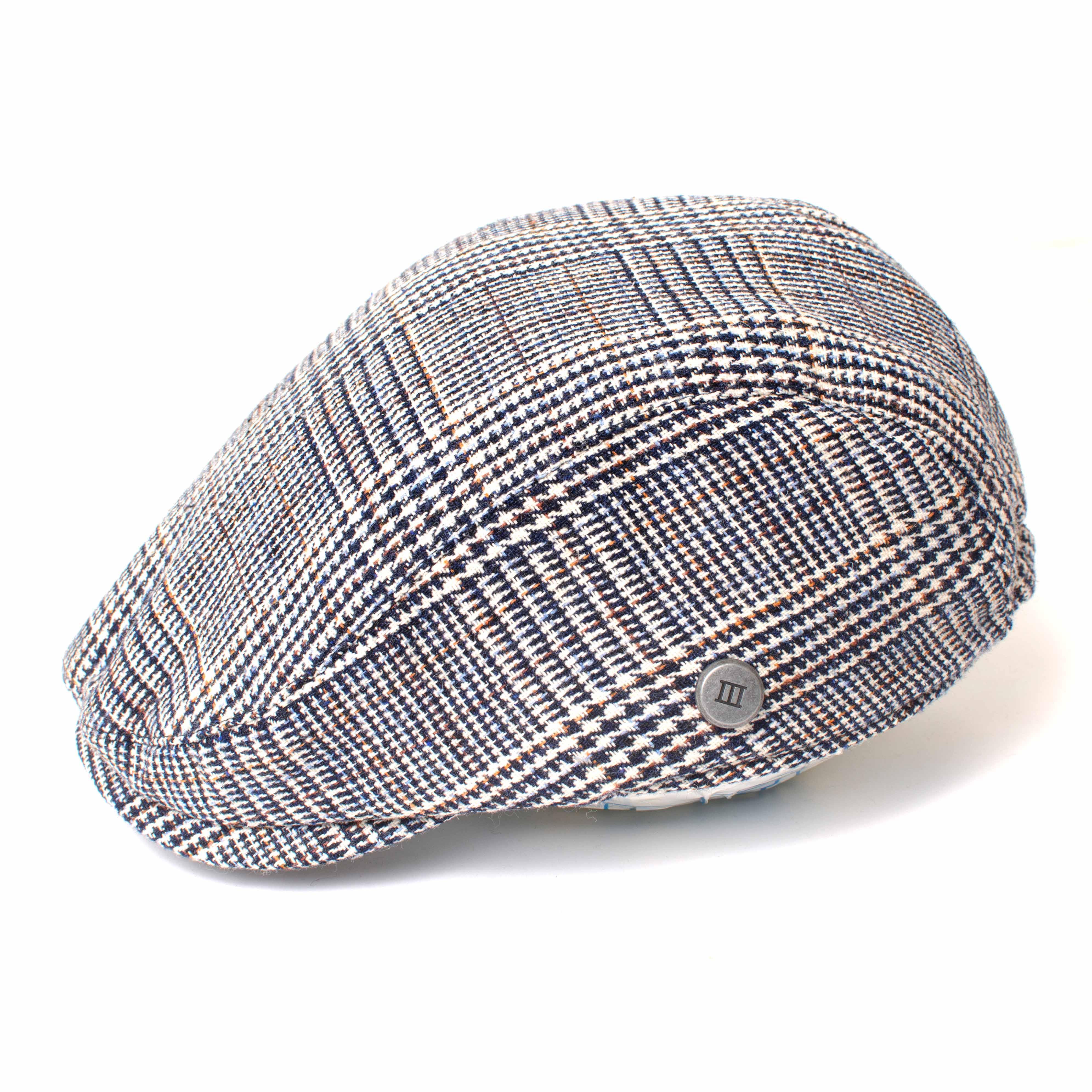 EVREN | Navy pied-de-poule style flatcap