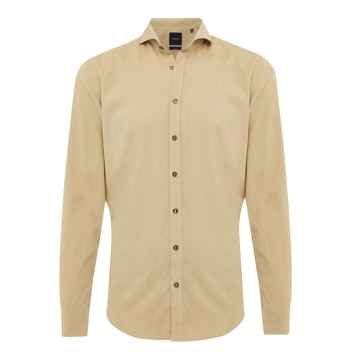 EMRIC   Shirt with button closure and baby cord in beige