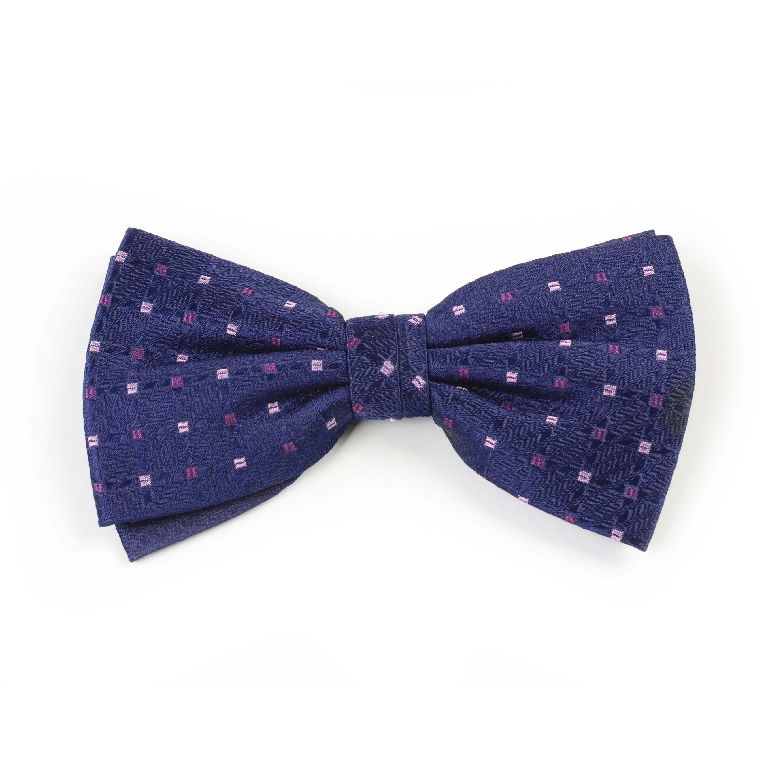 Bowtie silk navy/lilac/purple