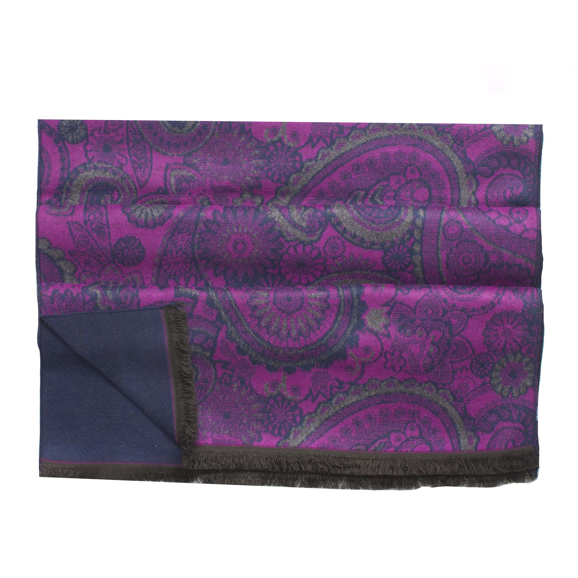 Scarf viscose double face, paisley