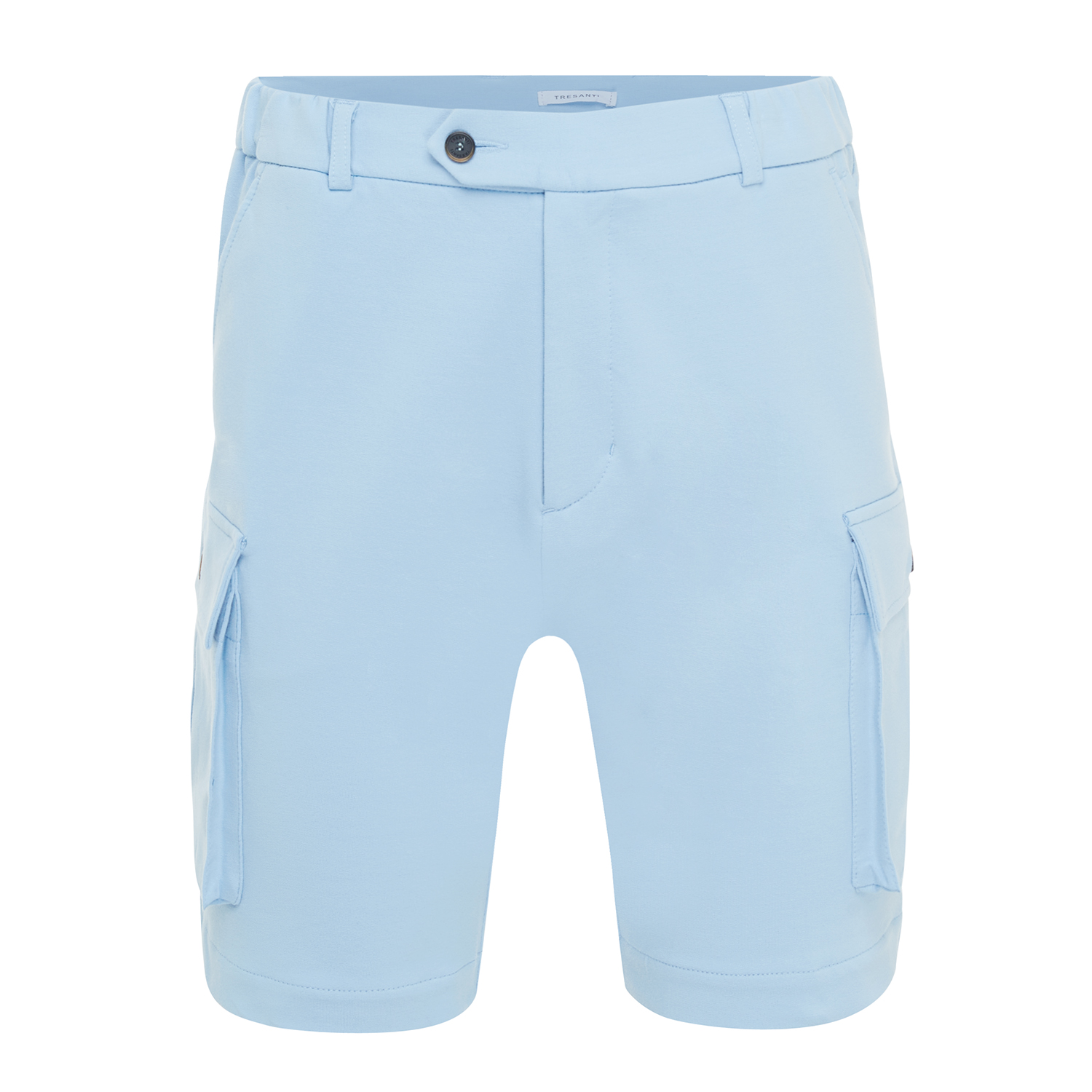 Morgan | Shorts with cargo pockets light blue