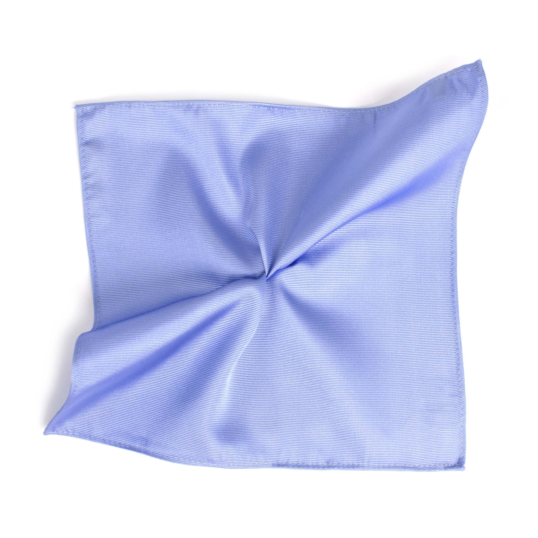 Classic sky blue ribbed pocket square
