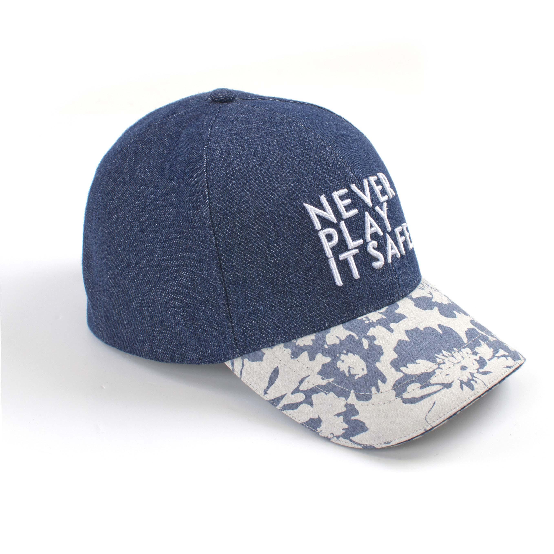 Tresanti Baseball cap with denim and flower print