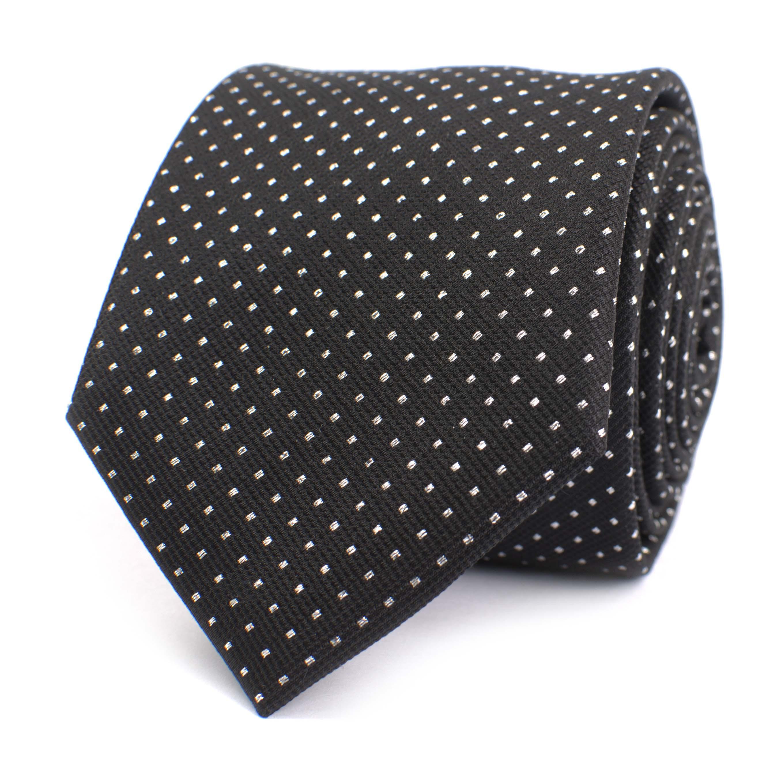 Tie black/silver lurex dot