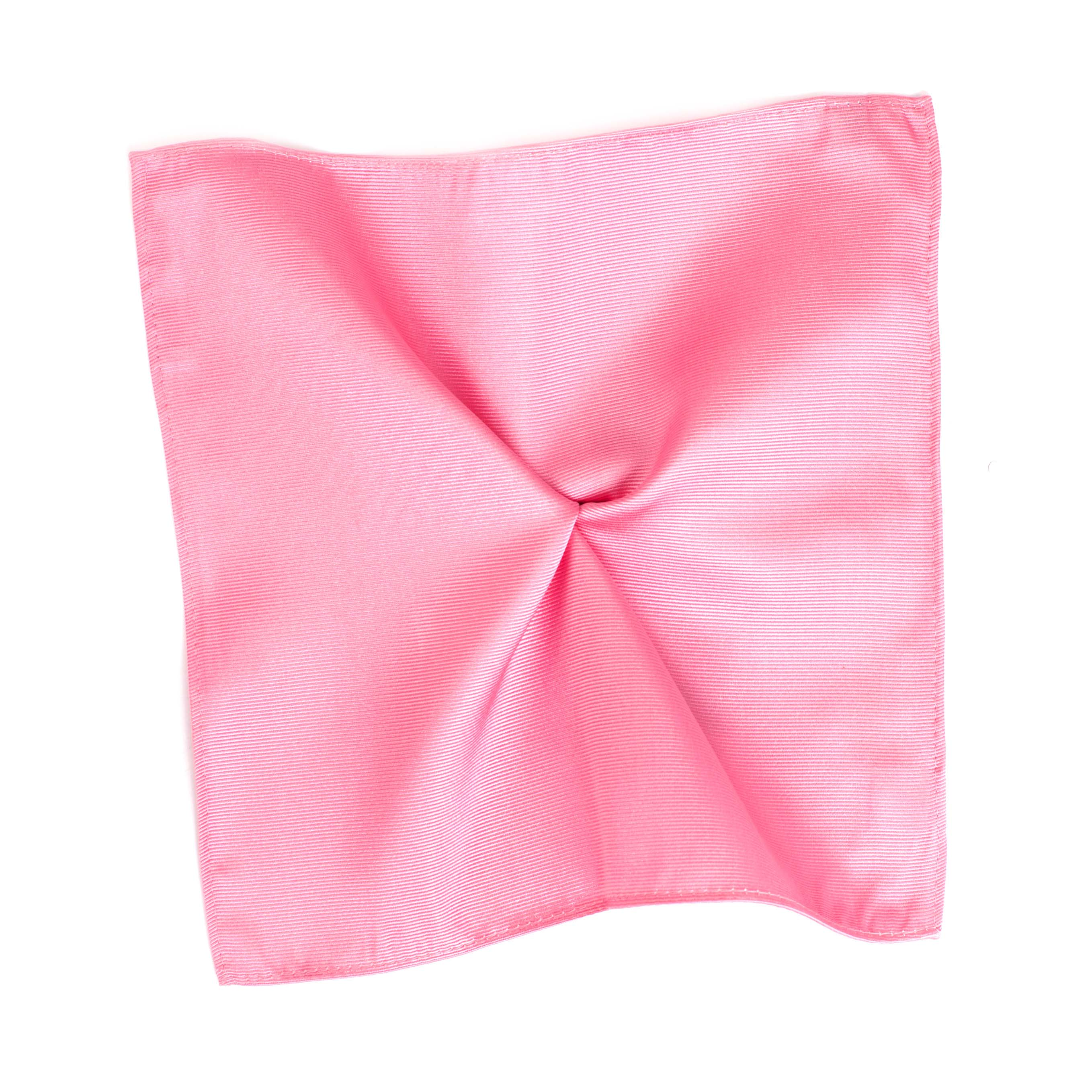 Classic pink ribbed pocket square