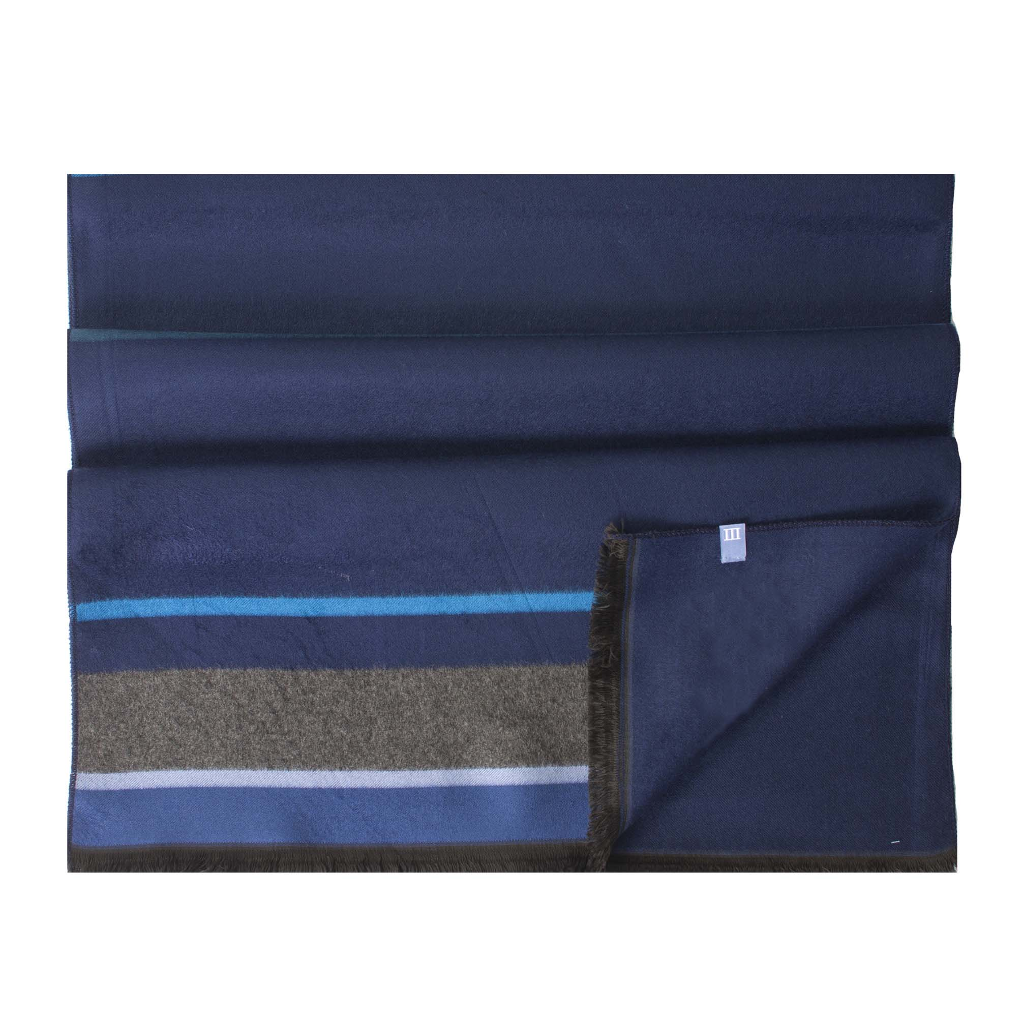 Scarf viscose double face, striped