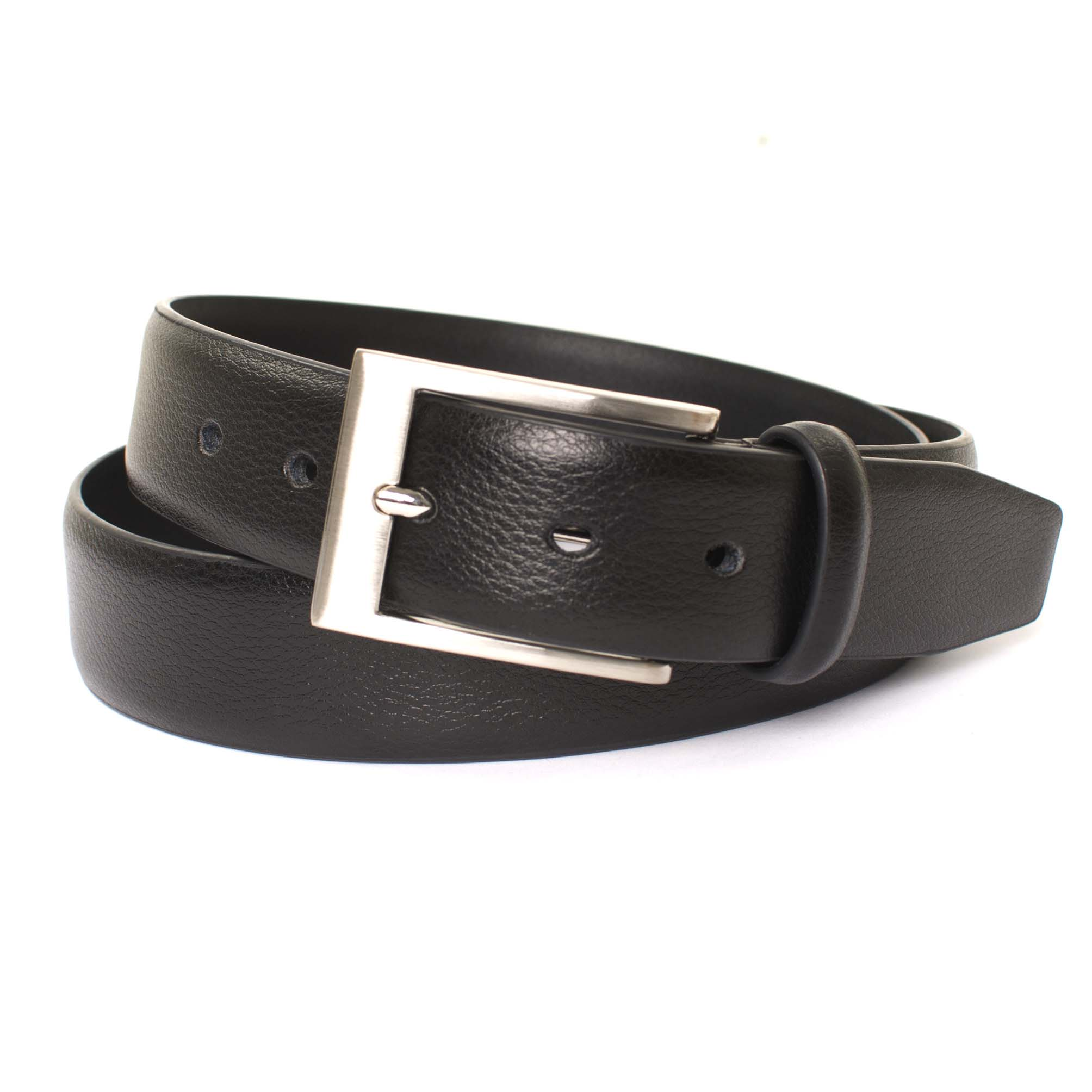 Belt leather small structure black