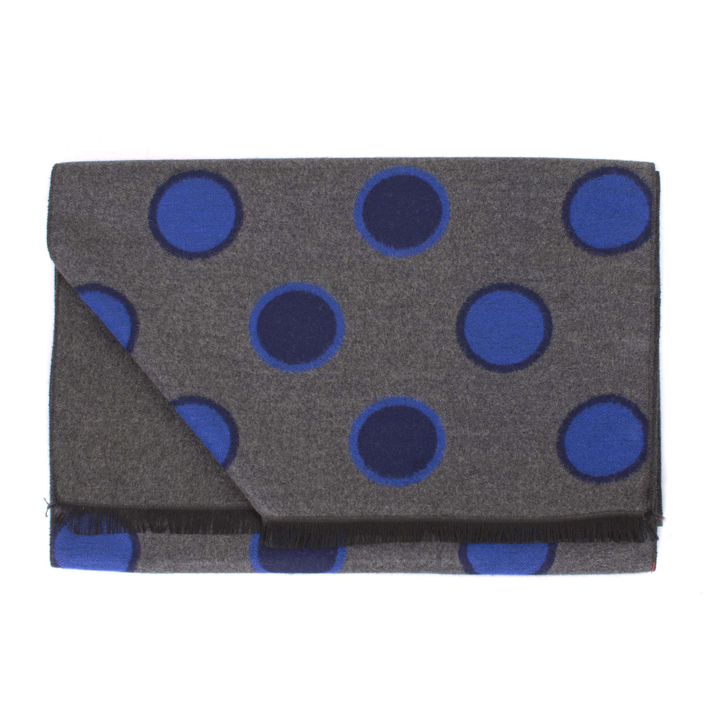 Viscose double face dots scarf
