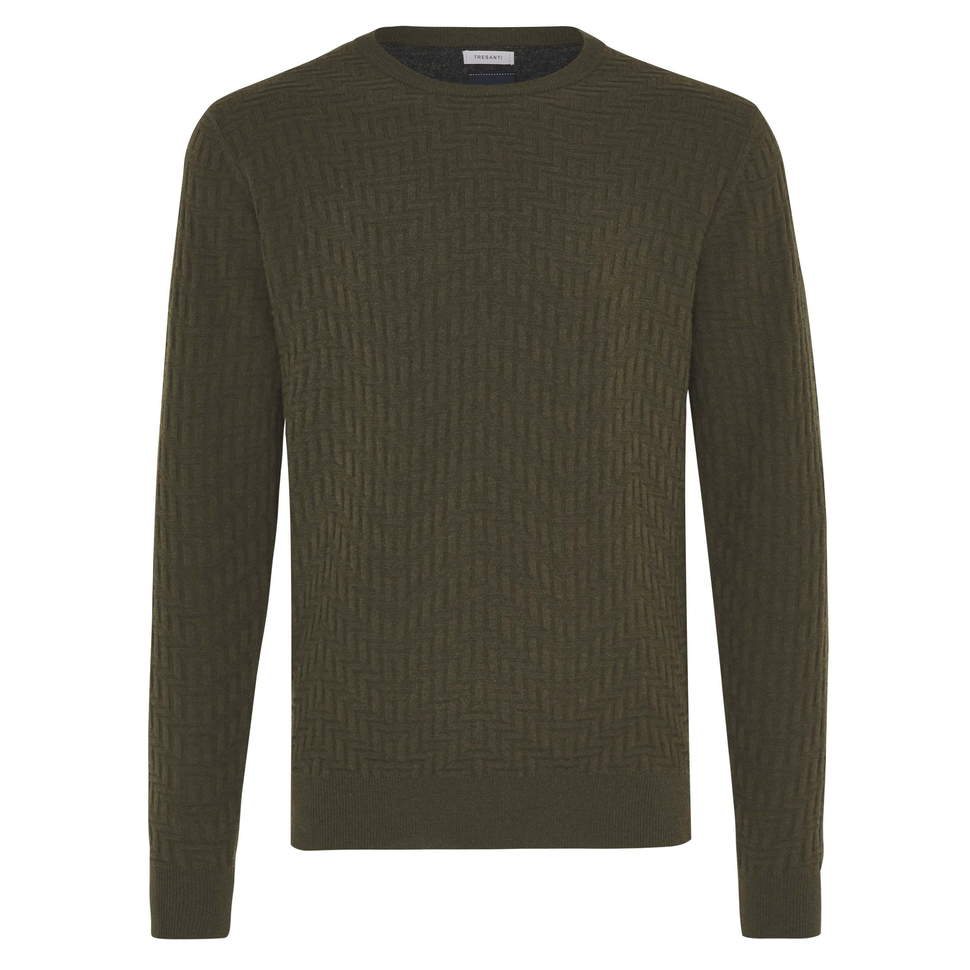 Jax | Pullover zizag dark green