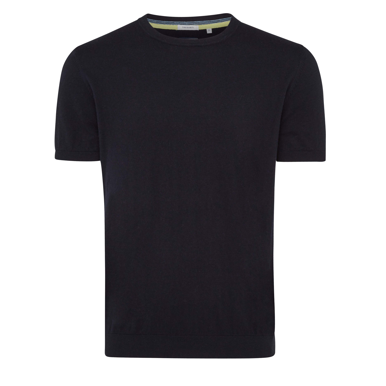 Travis | Pullover short sleeve navy