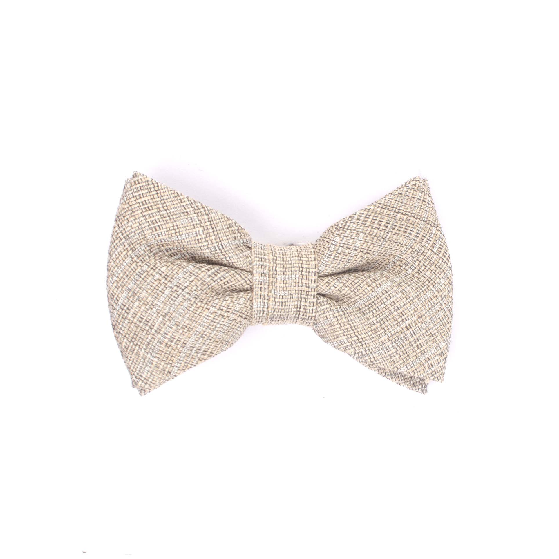 Mano | Linen bowtie beige