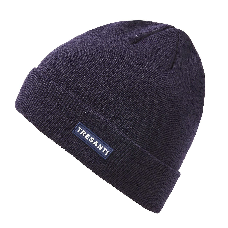 ERMEN | Fine knitted hat with TRESANTI logo in navy