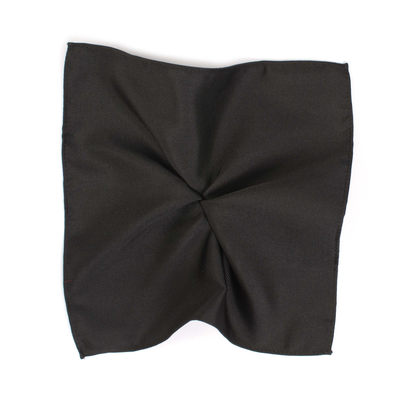 Classic black ribbed pocket square