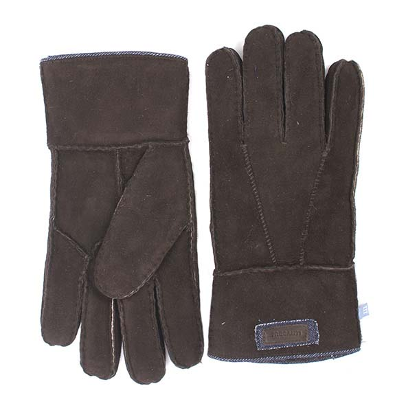 Brown sheepskin gloves