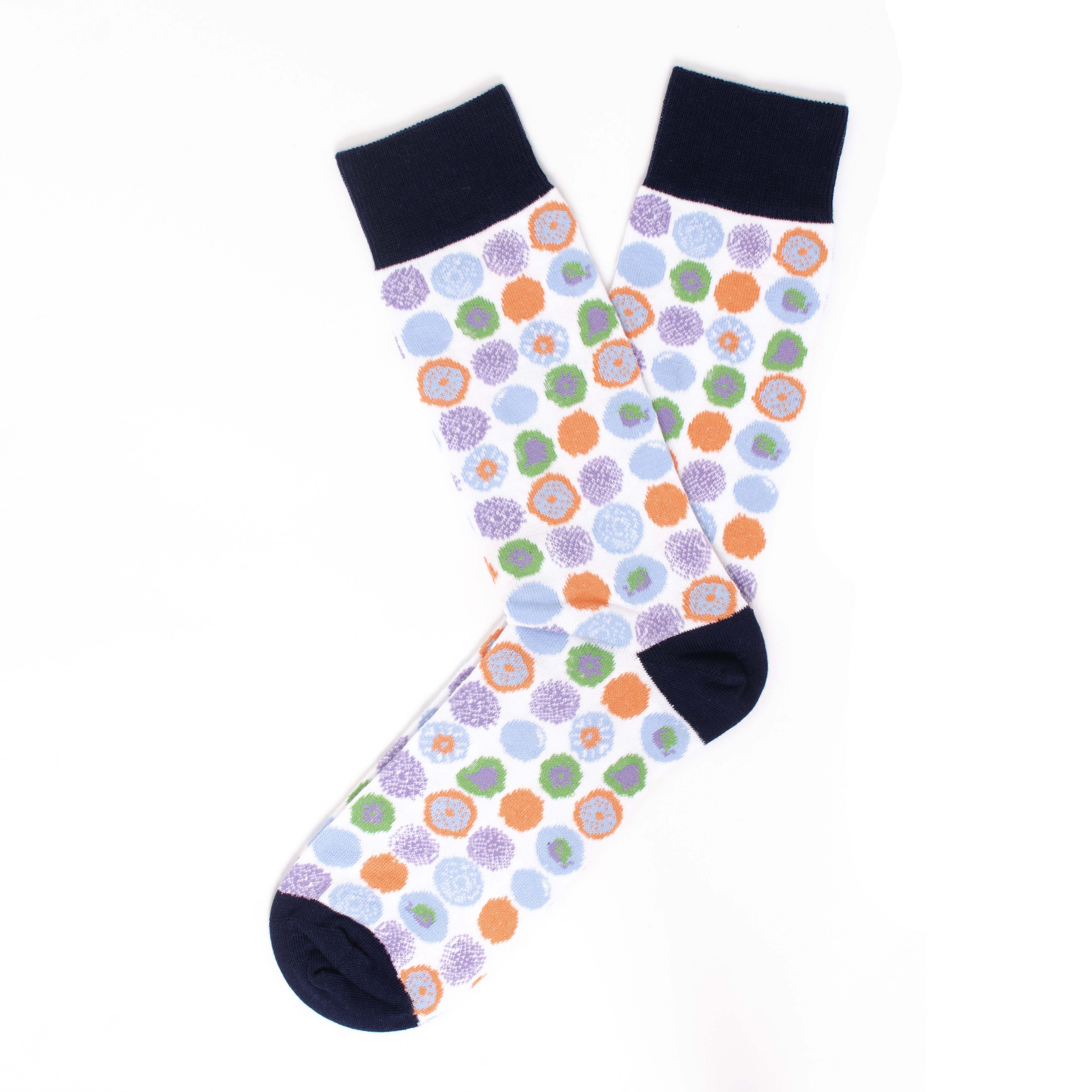 Socks with circle design
