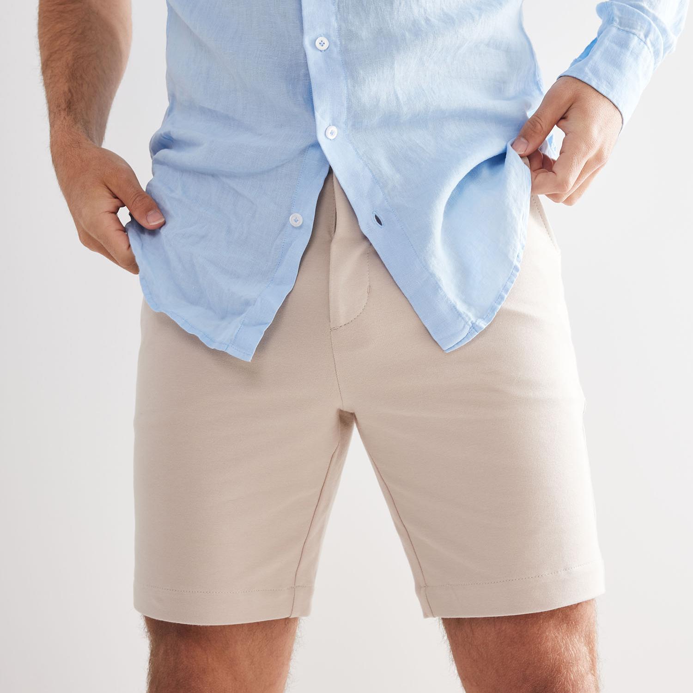 Tristan | Basic linen shirt light blue