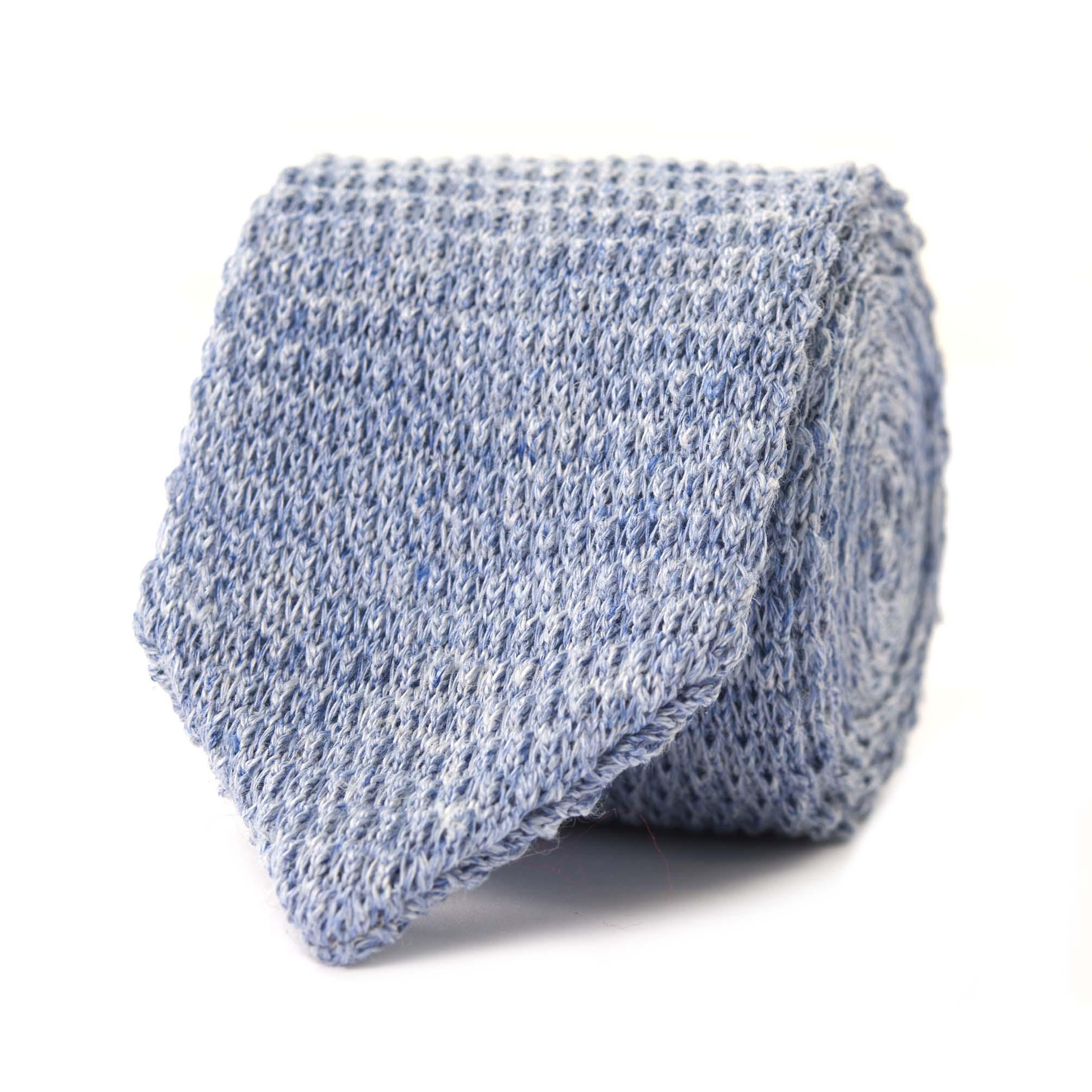 Teun | Tie linen inktblauw