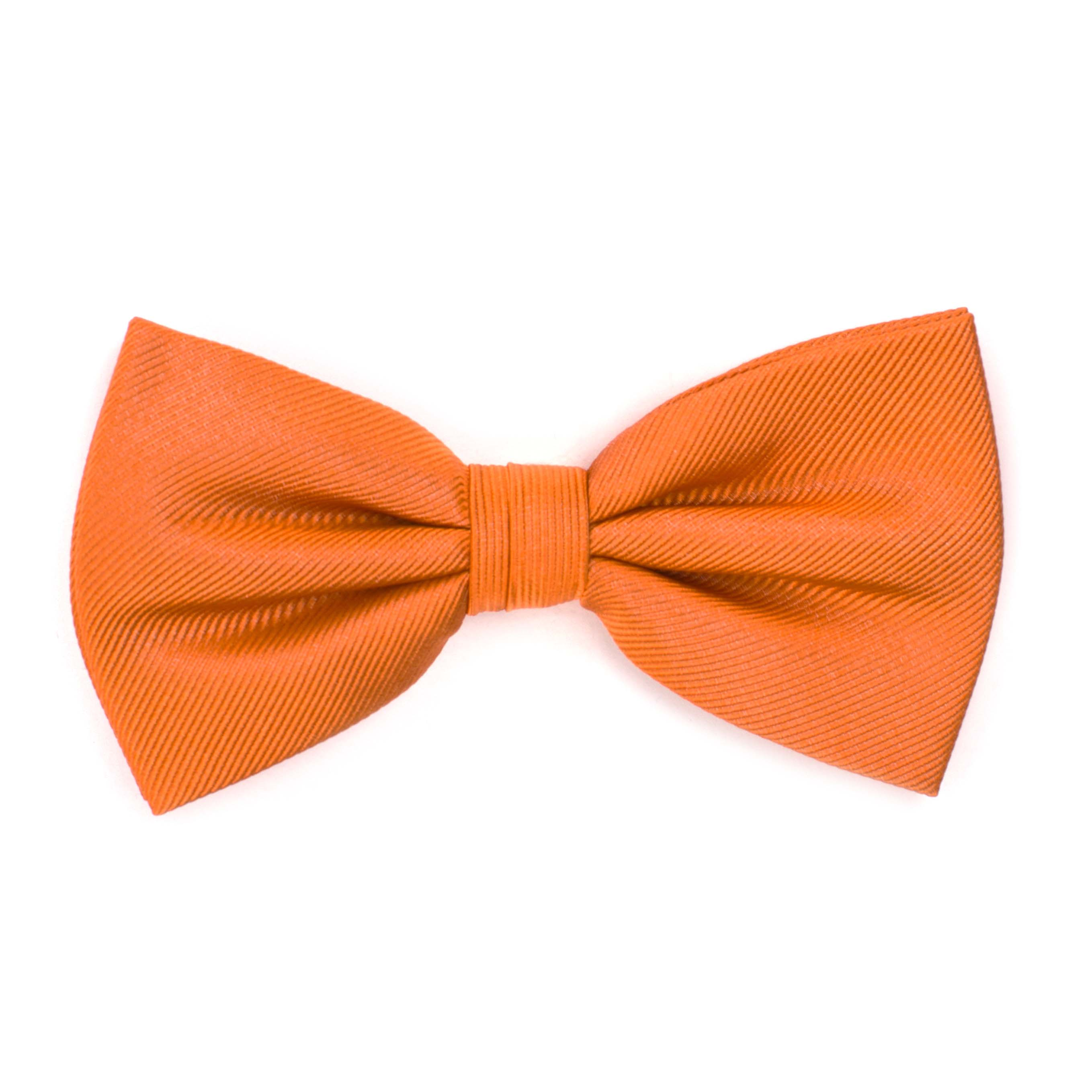 Bow tie classic ribbed orange