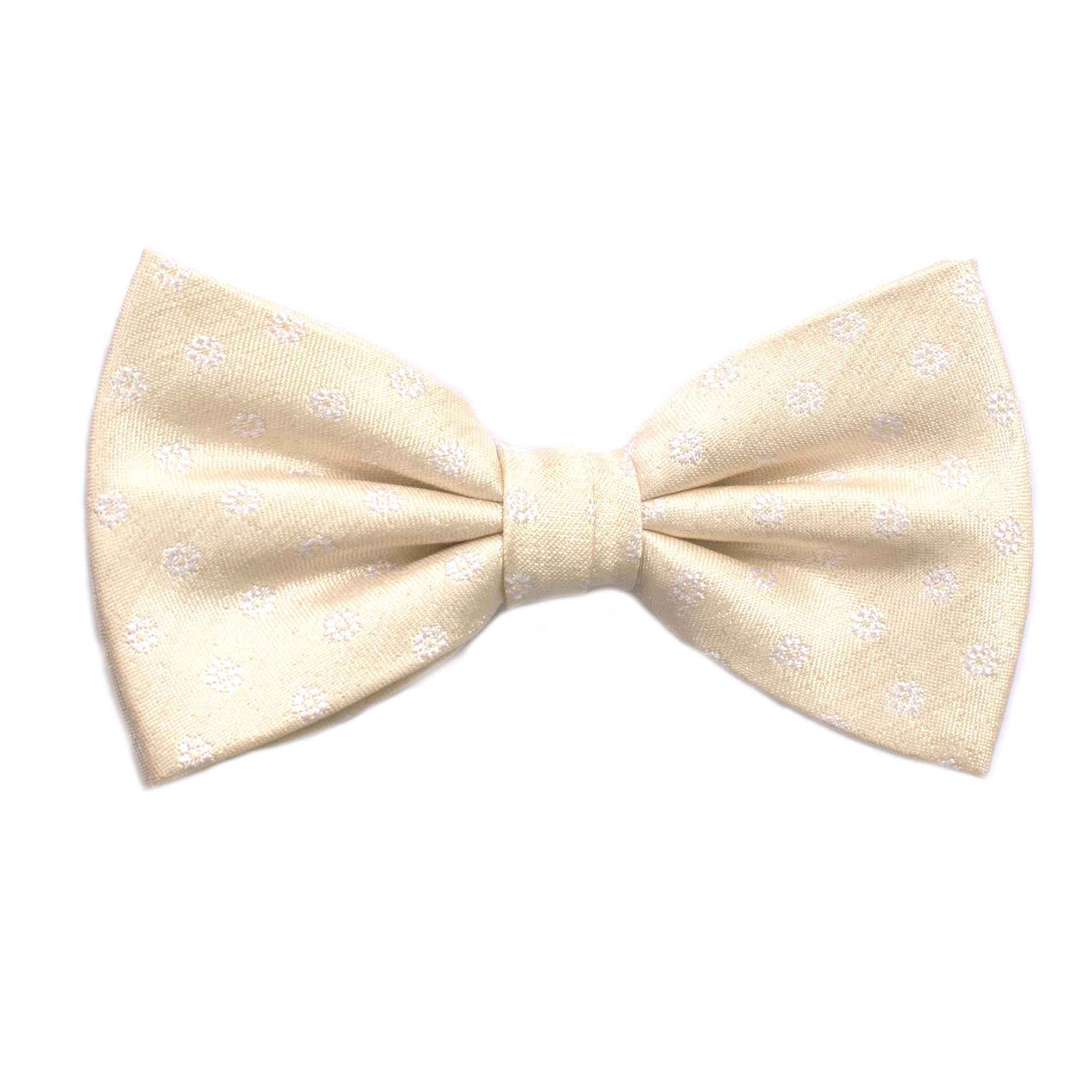 Bow tie with small flower design light yellow
