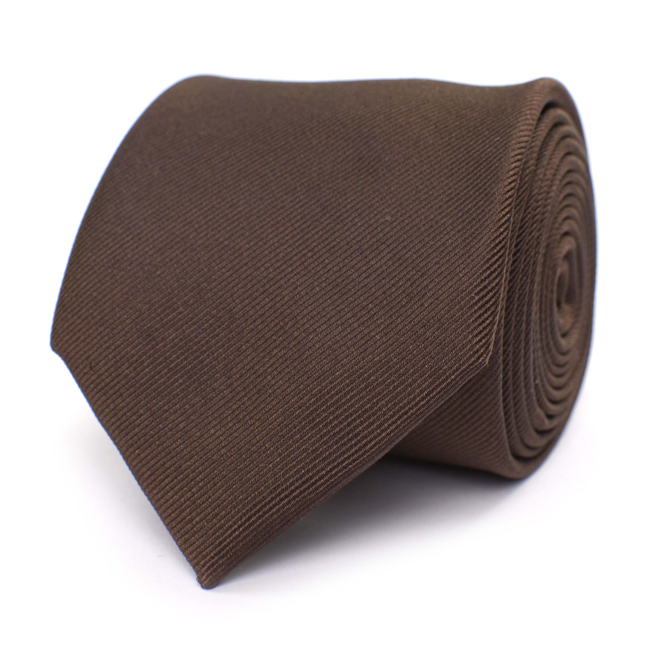 Tie classic ribbed brown