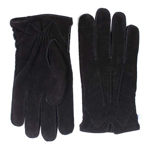 Gloves black suede