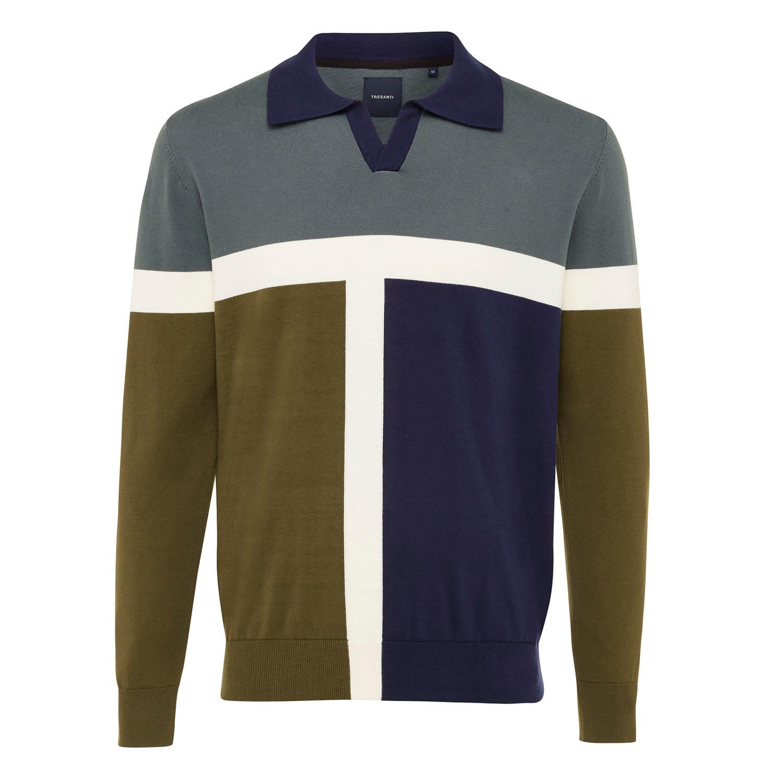 ENZO | Colourblock pullover green