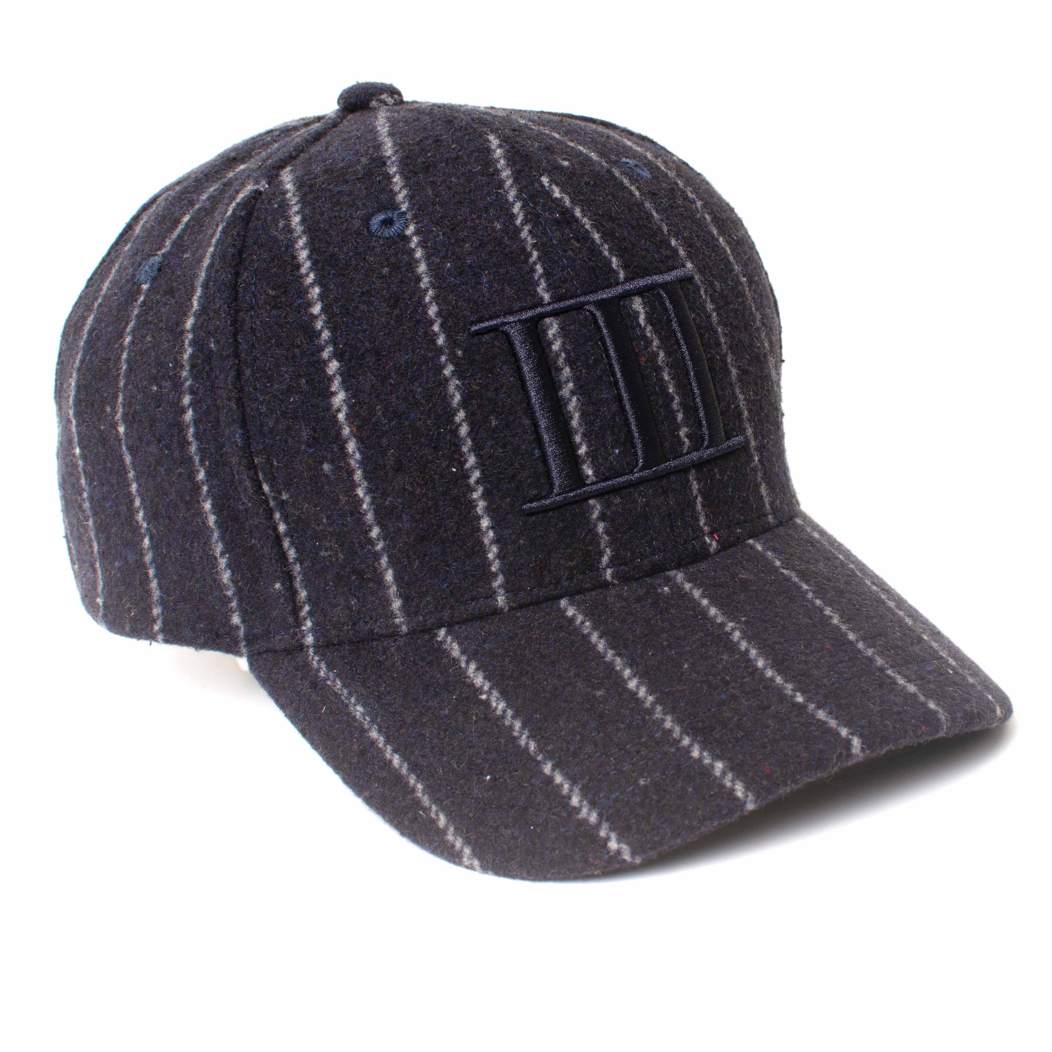EWEN   Navy pinstripe baseball cap