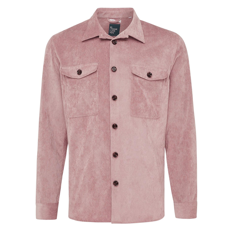 Matt | Rib overshirt pink