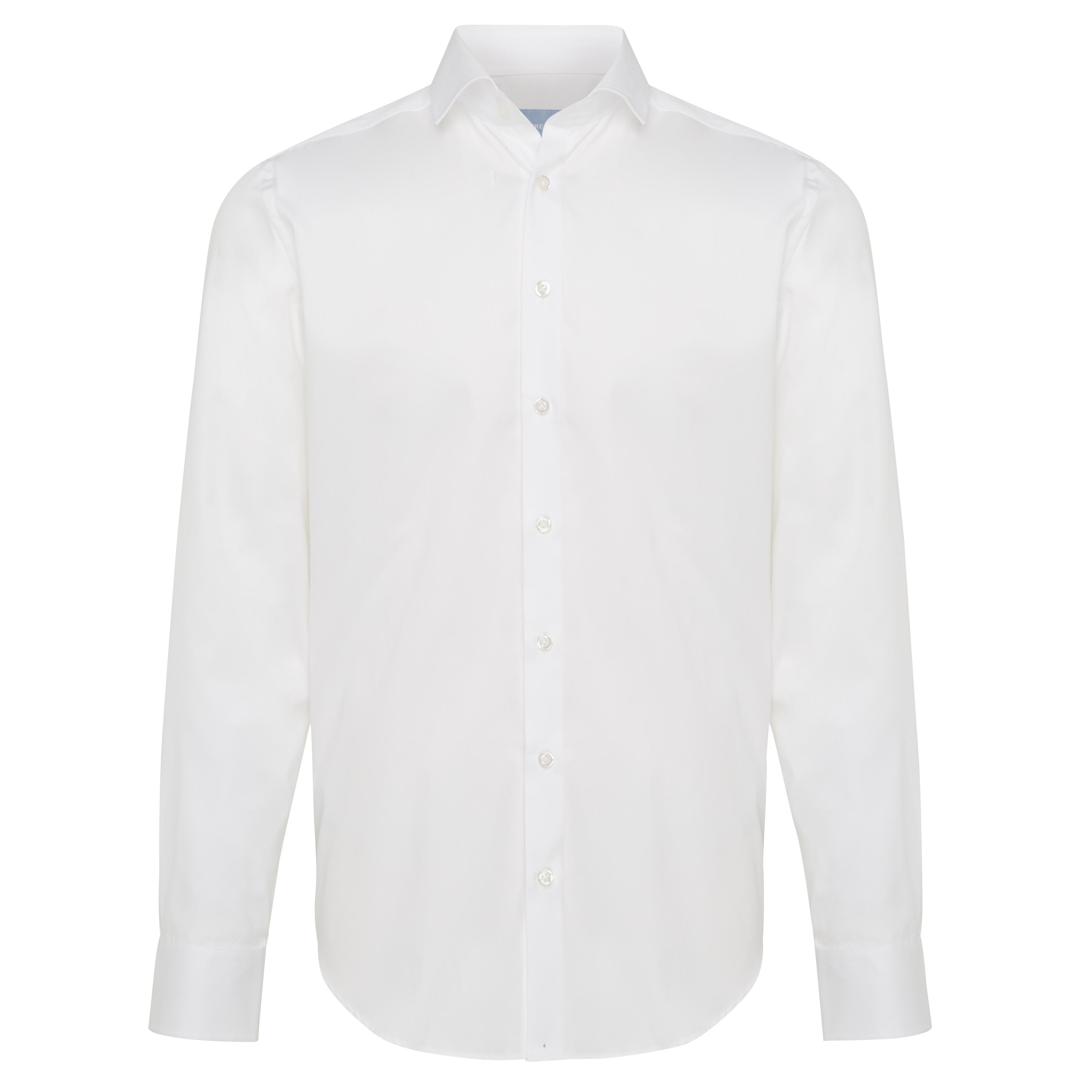 Non-iron shirt plain white - Regular Fit
