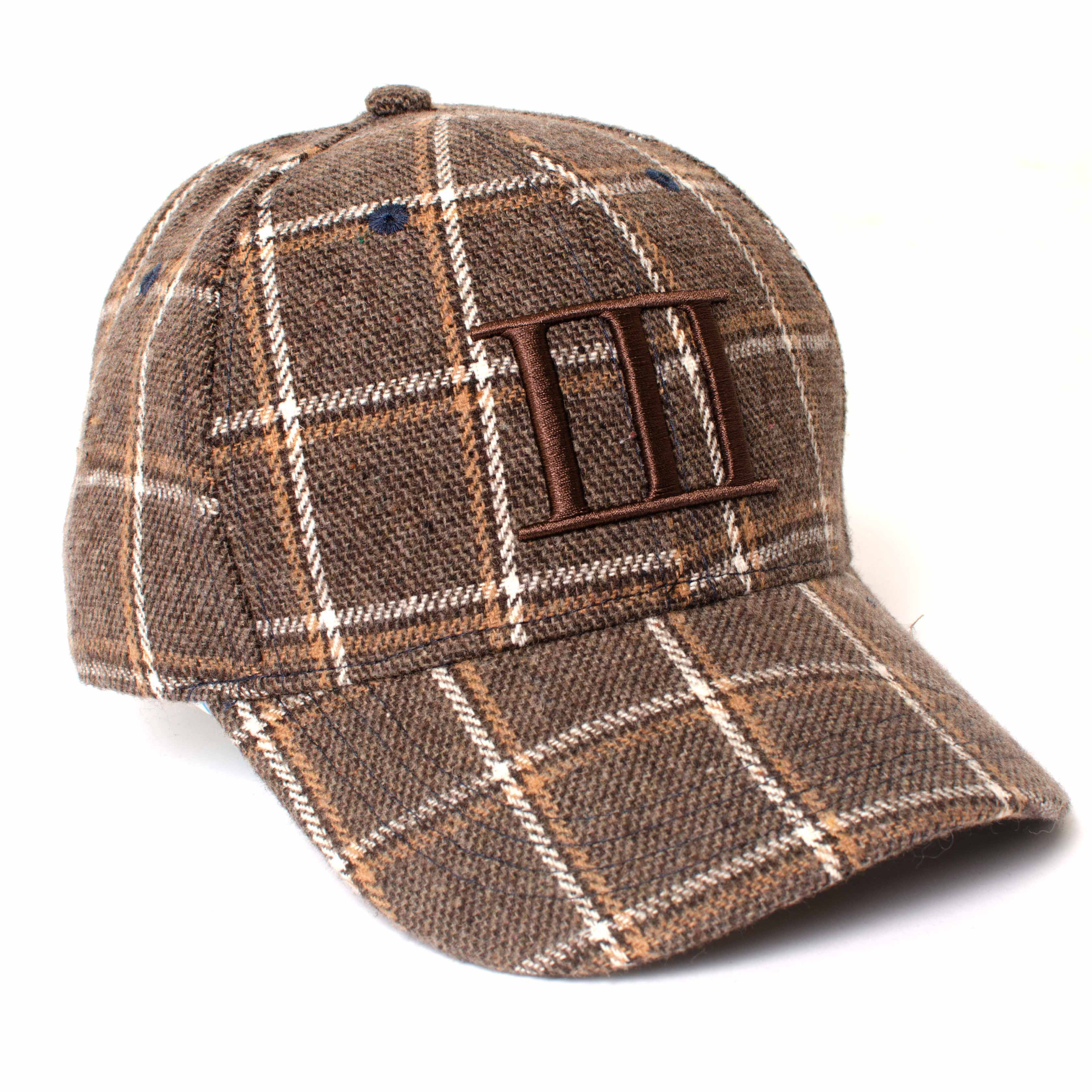 EINO   Cognac check baseball cap