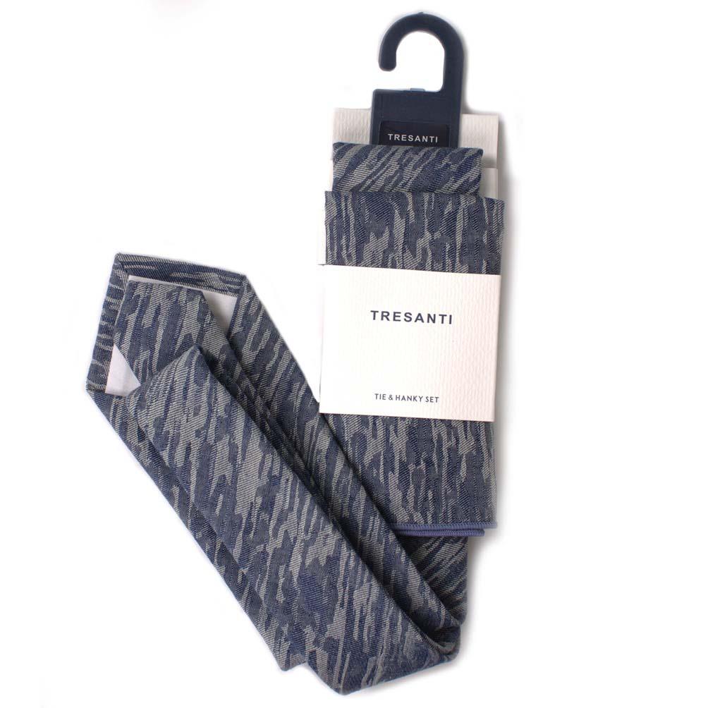 Cotton set tie & hanky