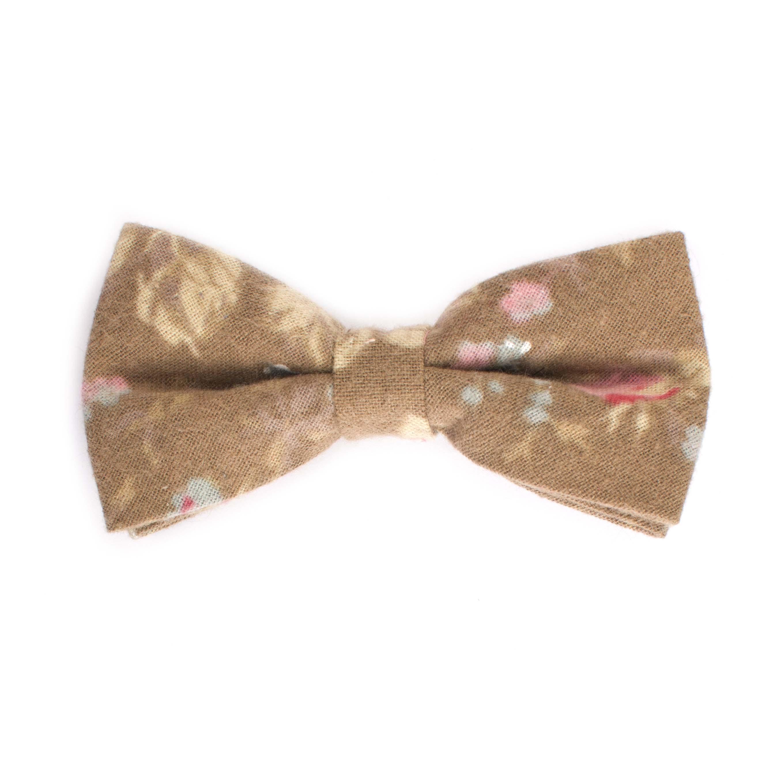 Bow tie cotton flower design brown