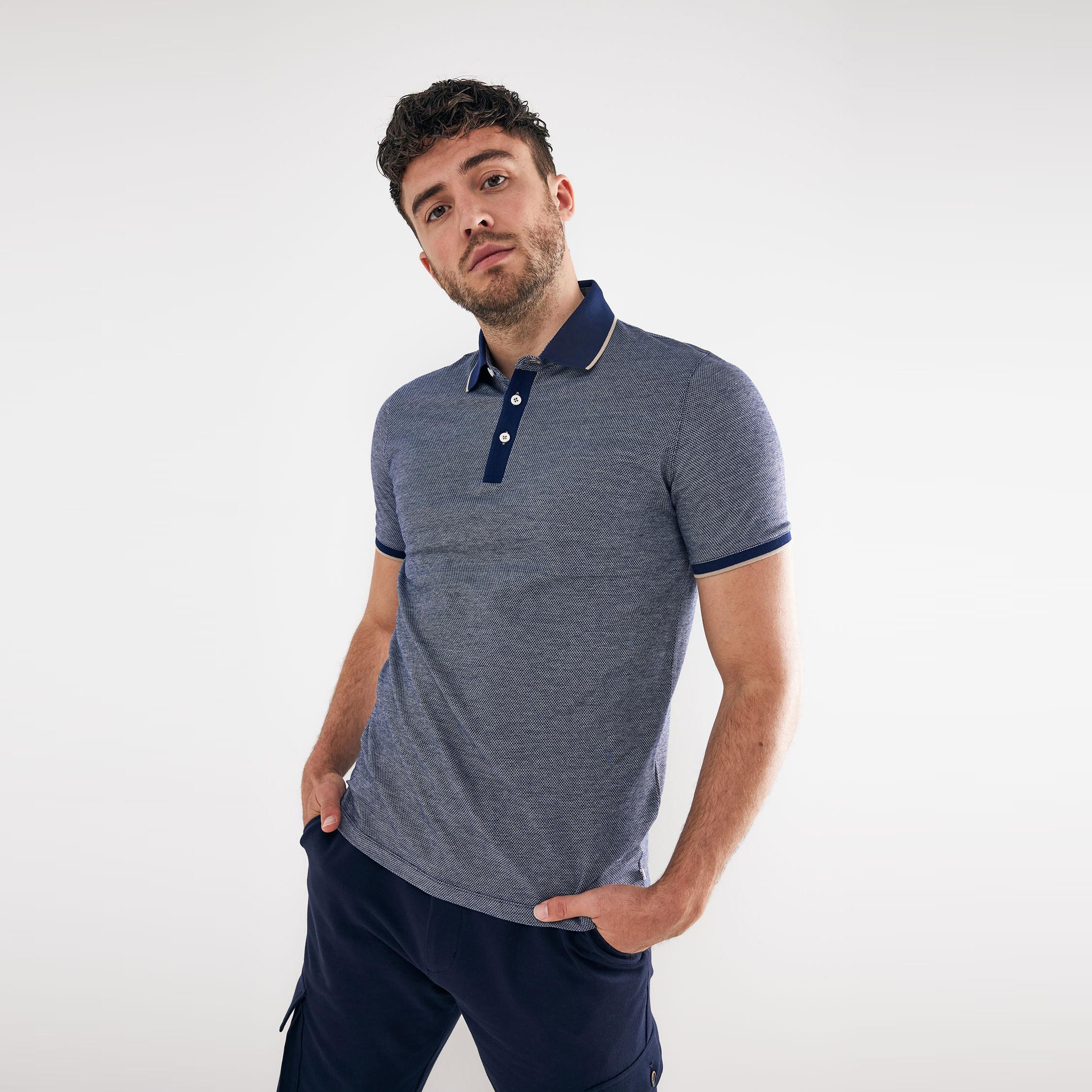 Tomas | Poloshirt detailed navy