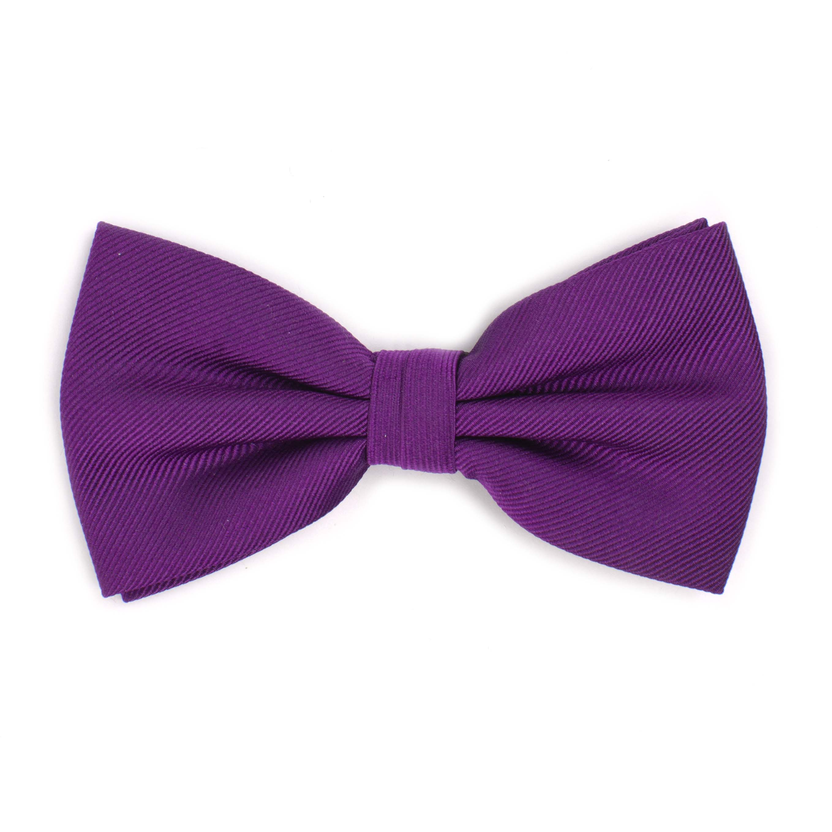 Bow tie classic ribbed purple